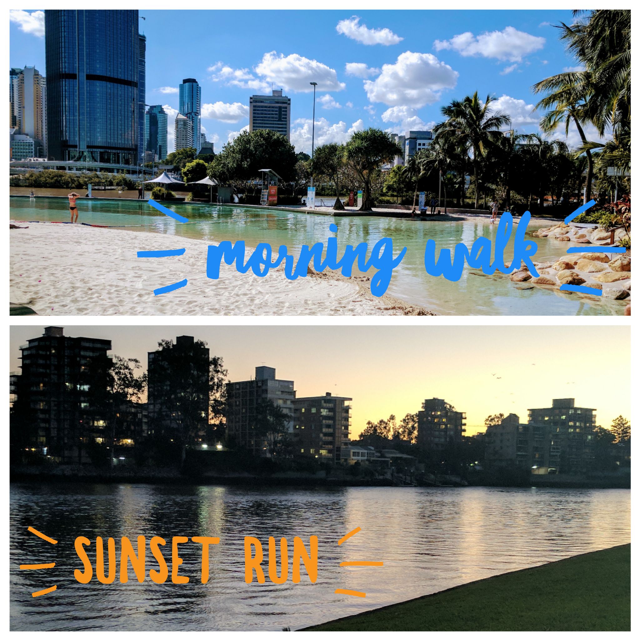 Challenge Day Seven – Morning Walk, Sunset Run
